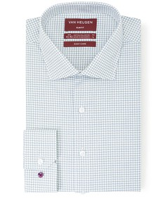 Slim Fit Shirt Blue Green Shadow Check