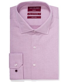 Slim Fit Shirt Dusty Pink Dobby Dots