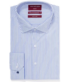 Slim Fit Shirt Blue and White Vertical Stripe