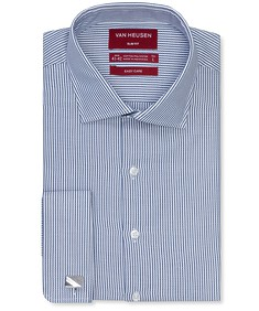 Slim Fit Shirt Indigo Rope Stripe