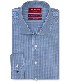 Slim Fit Shirt Indigo Geometric Check