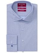 Slim Fit Shirt Hexagonal Geometric Print