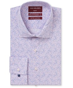 Slim Fit Shirt Pink Florals