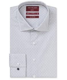 Slim Fit Shirt Indigo Diamond Print