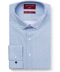 Men's Slim Fit Shirt Navy Mini Jet Print