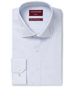 Slim Business Shirt Small Line Check