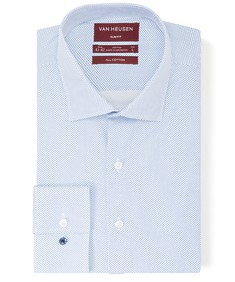 Slim Fit Shirt Blue Dobby Dots