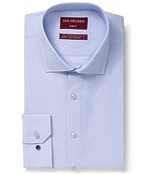 Slim Fit Shirt Blue Dobby Spot