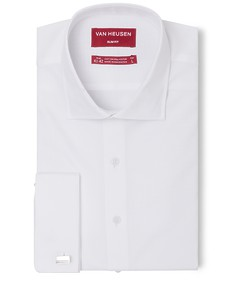 Slim Fit Shirt White Textured French Cuff