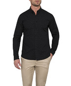 Athletic Fit Casual Shirt Black Dot