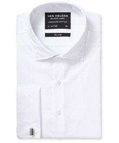 Black Label Slim Fit Shirt White Cotton