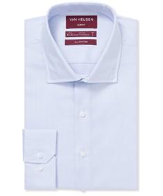 Slim Fit Shirt Blue Dobby Textured