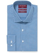 Slim Fit Shirt Blue Window Check