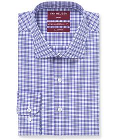 Slim Fit Shirt Purple Reign Tonal Check