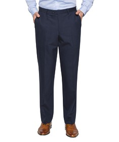 Black Label Classic Relaxed Fit Suit Pant Navy Pinstripe