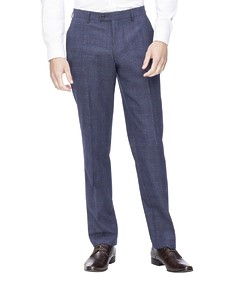 Euro Tailored Suit Pant Blue with Red Check