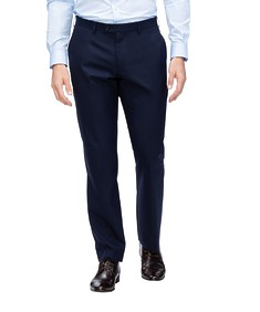 Euro Tailored Fit Suit Pant Navy Contrast Check