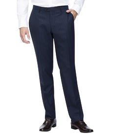 Euro Tailored Suit Pant Navy Pinstripe