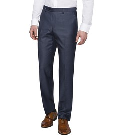 Euro Tailored Fit Suit Pants Birdseye