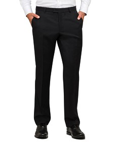 Euro Tailored Fit Suit Pants Black