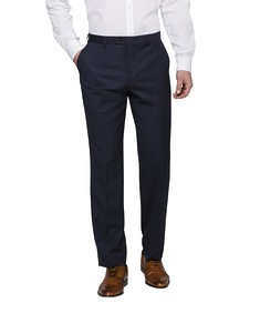 Euro Tailored Fit Suit Pant Navy Diamond Etch