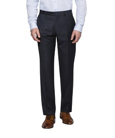 Black Label Euro Tailored Fit Suit Pants Charcoal with Blue Dot