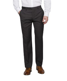 Euro Tailored Fit Suit Pants Charcoal Birdseye