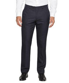 Black Label Euro Tailored Fit Suit Pant Ink Check