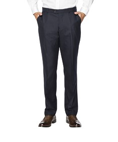 Euro Tailored Fit Suit Pant Navy Vertical Stripe