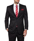 Classic Relaxed Fit Suit Jacket Charcoal
