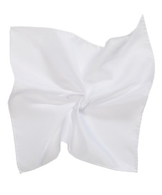 Mens Pocket Square White
