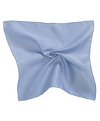 Mens Pocket Square Blue and White Stripe
