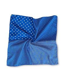 Pocket Square Navy Blue Four Square
