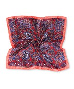 Pocket Square Red Paisley