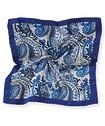 Pocket Square Blue Paisley