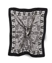 Pocket Square Black Paisley Print