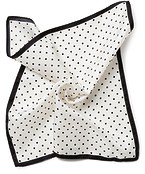 Pocket Square White Polka Dot