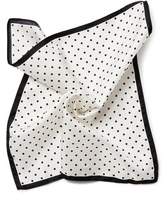 Pocket Square White Polka Dot