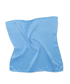 Mens Pocket Square Light Blue