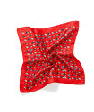 Mens Pocket Square Red Paisley