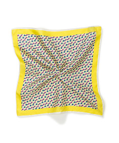 Mens Pocket Square Yellow Floral