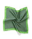 Mens Pocket Square Green Floral