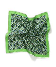 Mens Pocket Square Green Floral