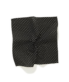 Pocket Square Black with White Dot