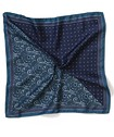 Pocket Square Navy Two Tone Patterned