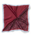 Pocket Square Red Two Tone Patterned