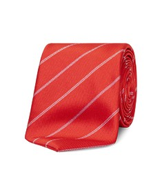 Neck Tie Red Diagonal Stripe