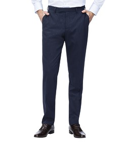 Slim Fit Suit Pant Navy Chalk Stripe
