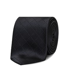 Neck Tie Charcoal Dobby Stripe