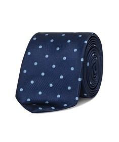 Neck Tie Navy Blue Spots